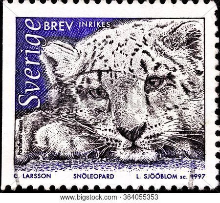 02 11 2020 Divnoe Stavropol Territory Russia Postage Stamp Sweden 1997 The Animals In The Nordic Ark