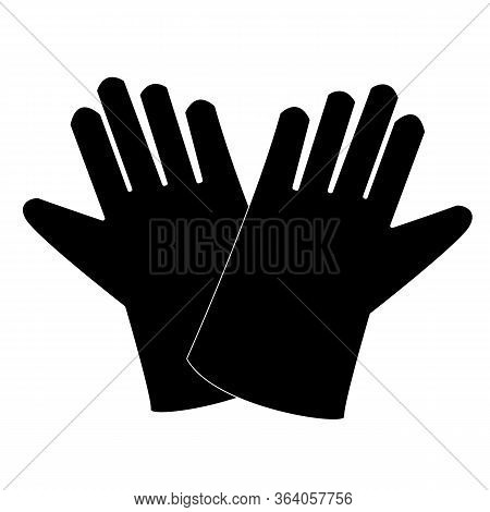 Cleaning Gloves Icon On White Background. Flat Style. Protective Rubber Gloves Icon For Your Web Sit