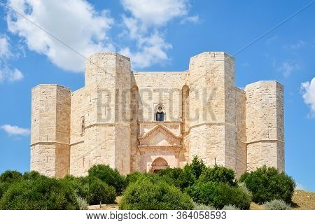 Panoramic View Of Castel Del Monte, Puglia. Italy.