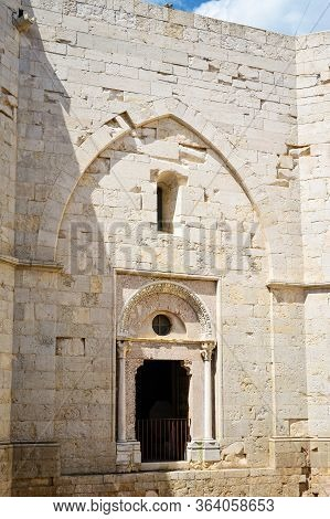 Castel Del Monte Inner Door Detail, Puglia. Italy. Castel Del Monte Is A 13th Century Castle Situate