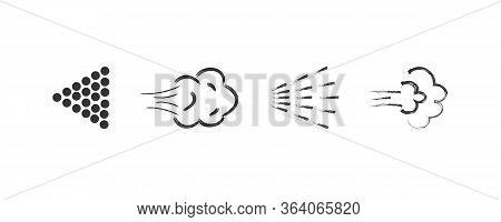 Big Set Of Icons Spray. Illustration Of Spraying Deodorant. Effect Spraying, Direction Liquids. Spra