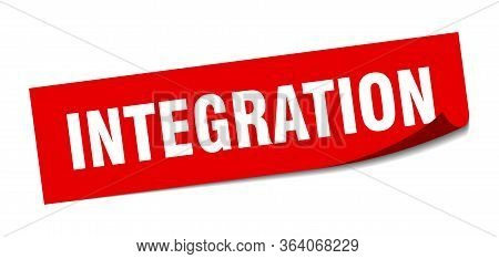 Integration Sticker. Integration Square Sign. Integration. Peeler