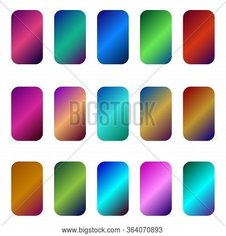 Collection Of Multicolored Gradient Backgrounds.multicolored Gradient Backgrounds In A Large Set.