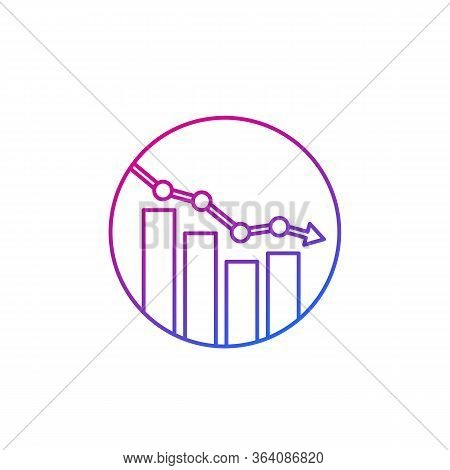 Decline Vector Line Icon, Eps 10 File, Easy To Edit
