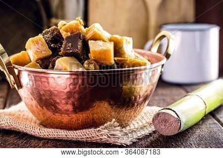 Typical Sugar Cane And Molasses Sweet, Made In Brazil And Latin America, Inside A Copper Pot, Typica