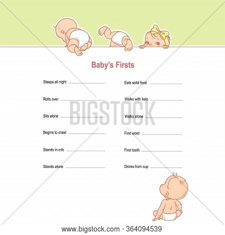 Checklist Of Baby Achievements And Milestones In First Year.