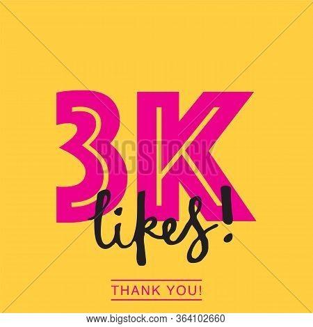 3k Likes Online Social Media Thank You Banner