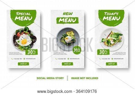 Food Menu Banner Social Media Story.