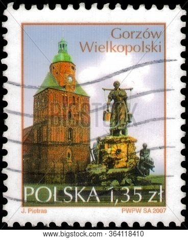 Saint Petersburg, Russia - April 30, 2020: Postage Stamp Printed In The Poland With The Image Of The