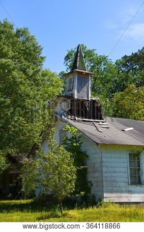 Abandoned Country Church In Disrepair
