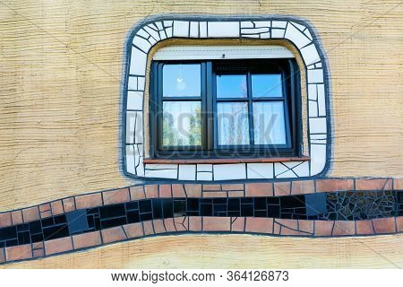 Facade Detail Of The Waldspirale Building In Darmstadt, Germany