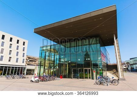 Main Entrance Of The Technical University Of Darmstadt, Germany