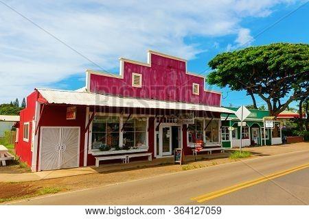 Typical Store In Haleiwa, Oahu, Hawaii