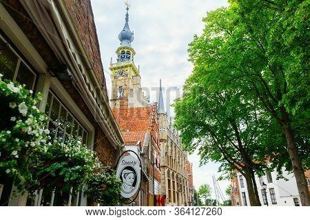 Historic Buildings In Veere, Netherlands