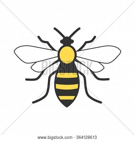 Bee Icon In Trendy Style Design. Vector Graphic Illustration. Suitable For Website Design, Logo, App