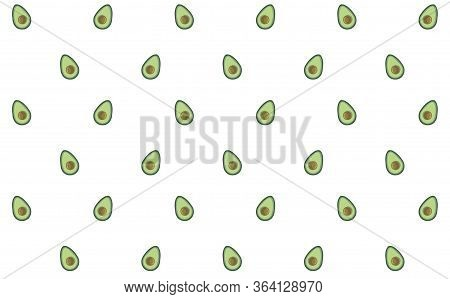 Avocado Seamless Pattern For Print, Fabric And Organic, Vegan, Raw Products Packaging. Texture For E