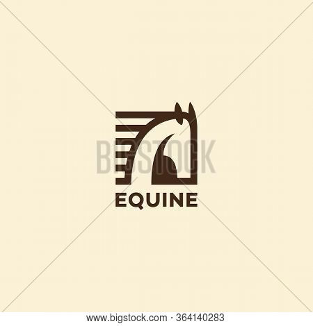 Equine Logo Design Template With A Horse Head. Vector Illustration.