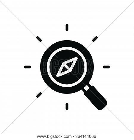 Black Solid Icon For Discover Compass Search Explorer