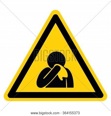 Use Tissue Cover Your Mouth Agitator Symbol Sign ,vector Illustration, Isolate On White Background L