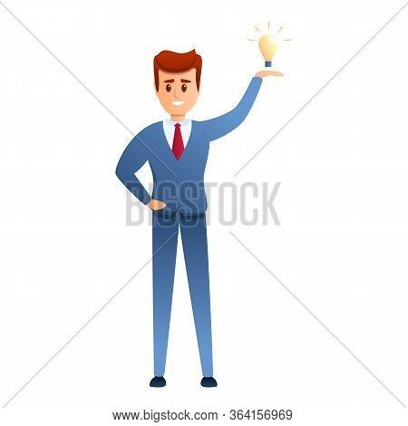 Entrepreneur Idea Icon. Cartoon Of Entrepreneur Idea Vector Icon For Web Design Isolated On White Ba