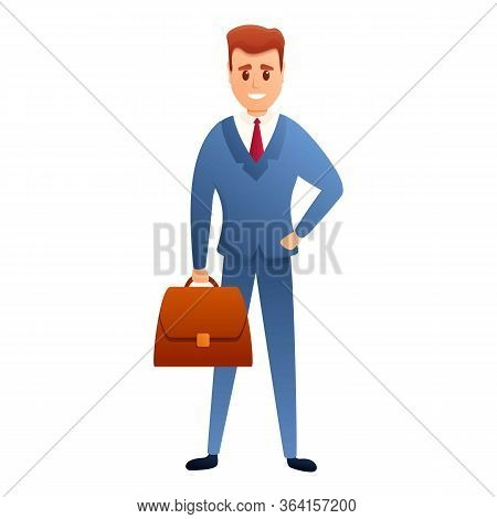 Dressed Businessman Icon. Cartoon Of Dressed Businessman Vector Icon For Web Design Isolated On Whit