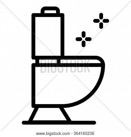 Toilet Pan Icon. Outline Toilet Pan Vector Icon For Web Design Isolated On White Background