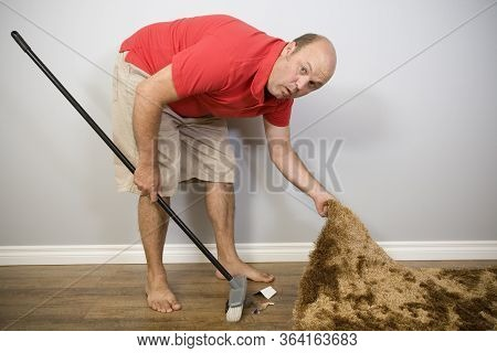 A Man Hiding Rubbish Under The Carpet, Sayings And Concepts.