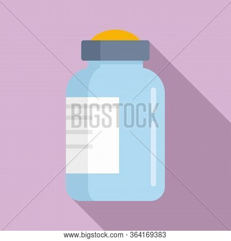 Insulin Bottle Icon. Flat Illustration Of Insulin Bottle Vector Icon For Web Design