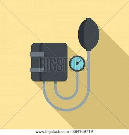 Arterial Pressure Mechanical Tool Icon. Flat Illustration Of Arterial Pressure Mechanical Tool Vecto