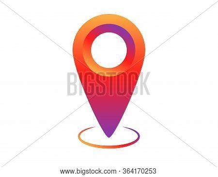 Colorful Social Network Pin Tag Point For Map. Location Pointer To Show Position. Navigation Pointin