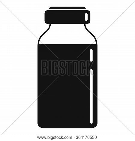 Insulin Dose Bottle Icon. Simple Illustration Of Insulin Dose Bottle Vector Icon For Web Design Isol