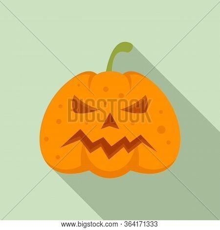 Squash Pumpkin Icon. Flat Illustration Of Squash Pumpkin Vector Icon For Web Design