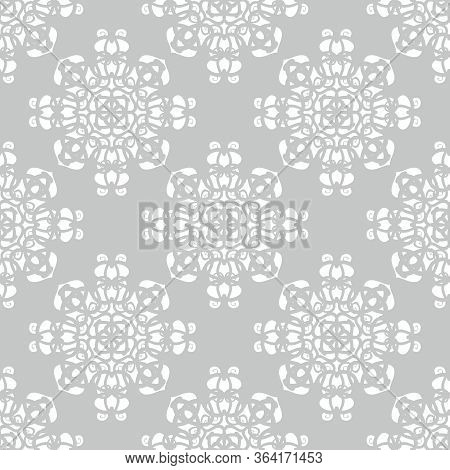Tile Grey And White Vector Pattern For Seamless Decoration Wallpaper