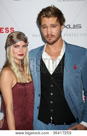 """LOS ANGELES - AUG 22:  Kenzie Dalton, Chad Michael Murray arrives at the """"Lawless"""" LA Premiere at ArcLight Theaters on August 22, 2012 in Los Angeles, CA"""