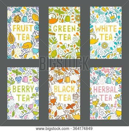 Set Of Tea Tag Label. Vector Illustration.