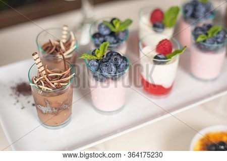 Catering Food Service In The Top Restaurant