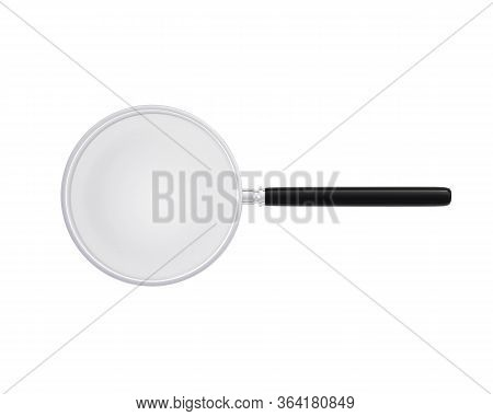 Zoom Lens Magnifier On A White Background. Magnifying Equipment Instrument, Magnifier Loupe. 3d Rend