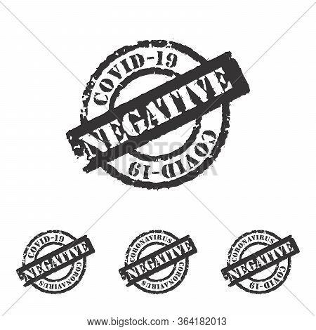 Coronavirus Covid-19 Diagnosis Test Result Negative Stamp