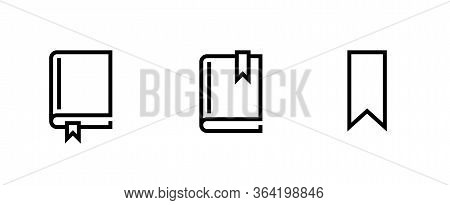 Set Books Different Size Icons. Editable Line Vector.