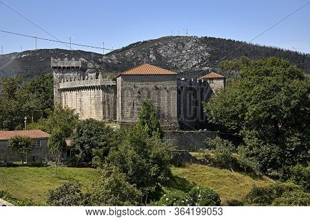 Vimianzo. Spain June 5, 2019. Rear View Of The Vimianzo Castle. This Fortress Was Assaulted During T