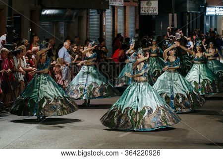 Guardamar, Costa Blanca, Spain - July 20 2019: The Moors And Christians Festivities In Honor Of Sant