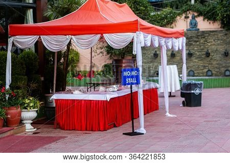 Momo Food Stall Ready To Be Served At Wedding Party Venue