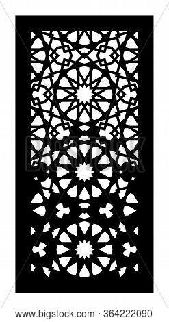 Rich Decorative Vector Panel For Laser Cutting. Cnc Decor, Jali Design. Template For Interior Partit