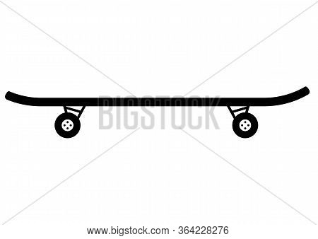 Skateboard. Vector Flat Icon Illustration Isolated On White Background. Skateboard Simple Icon In Gl