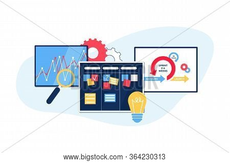 Agile Project Management. Communication, Teamwork, Business Process.