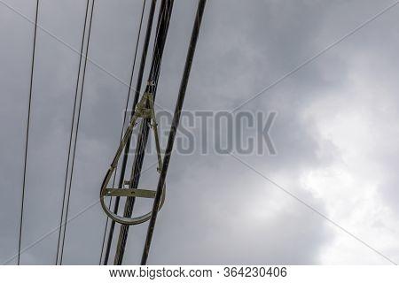 Snowshoe Fiber Optics Cable Slack Device, Radius Curve Limiter, Telecommunications And Data Transmis