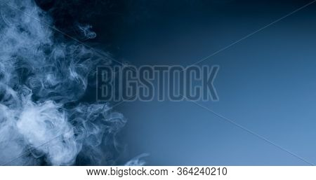 Abstract Art. Smoke Copy Space Grey. Inhalation. The Steam Generator. The Concept Of Aromatherapy.