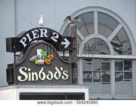 San Francisco, Ca - November 17: Sinbad's Restaurant Sign On Pier 2 2012