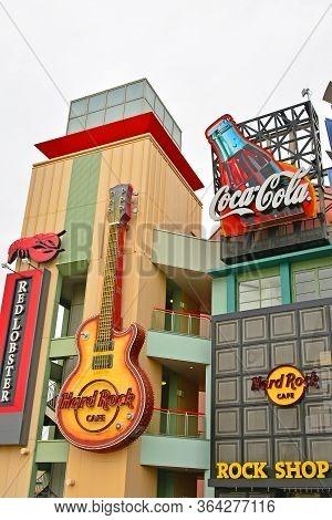 Osaka, Jp - April 7 - Hard Rock Cafe At Universal Studios Japan On April 7, 2017 In Osaka, Japan.