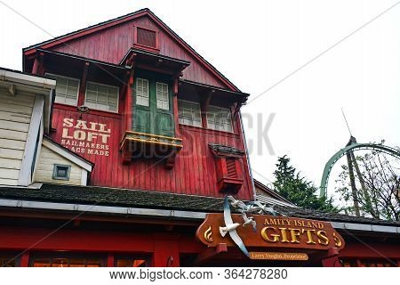 Osaka, Jp - April 7 - Amity Village Theme Amity Island Gifts At Universal Studios Japan On April 7,